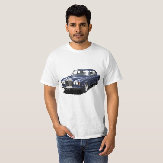 Midnight Blue Rolling Royal classic car t-shirt