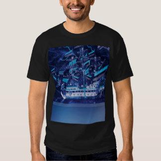 Midnight Blue Ship in the Night T-shirt