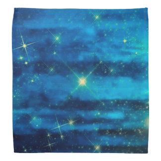 Midnight blue sky with stars bandana