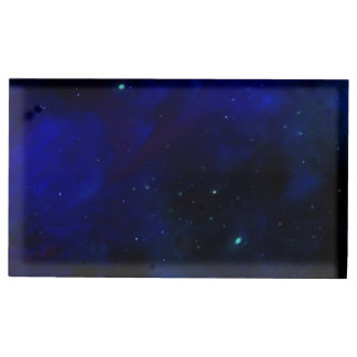 Midnight Blue Sky with Stars Table Number Holder