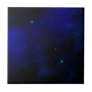 Midnight Blue Sky with Stars Tile