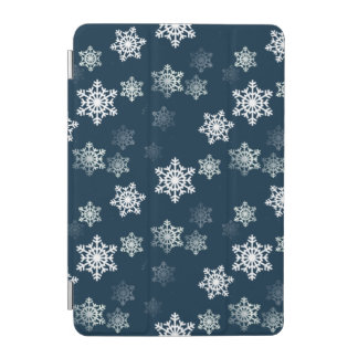 Midnight Blue Snow Flurries iPad Mini Cover