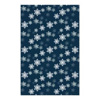 Midnight Blue Snow Flurries 14 Cm X 21.5 Cm Flyer