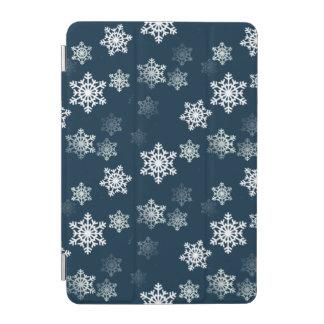 Midnight Blue Snow Flurries iPad Mini Cover
