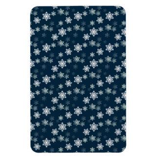 Midnight Blue Snow Flurries Flexible Magnet