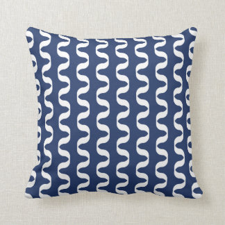 Midnight Blue Twist Pattern Pillow
