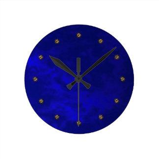 midnight blue velvet wallclocks