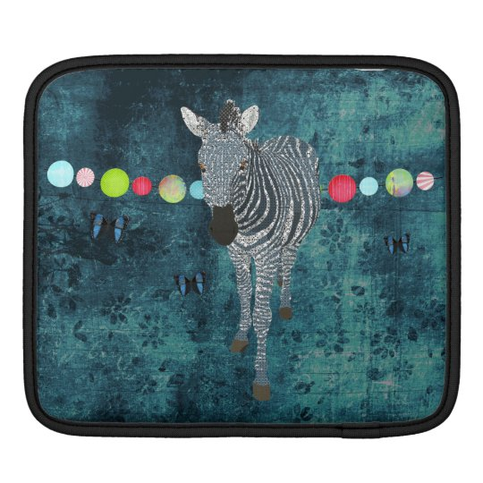 Midnight Blue Zebra  iPad Sleeve