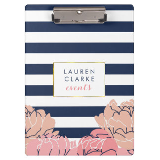 Midnight Blush Peony Clipboard