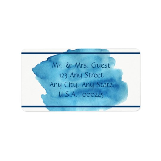 Midnight Breeze  Typography Envelope Address Label