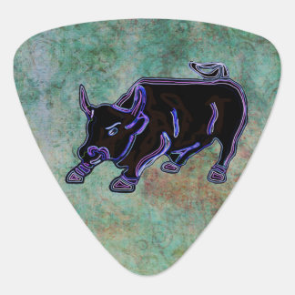 Midnight Bull Custom Monogram Plectrum