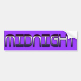 Midnight Car Bumper Sticker