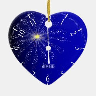 Midnight Ceramic Heart Decoration