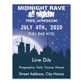 Midnight City Rave Flyer