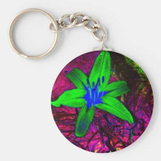 Midnight Day Lily Keychain