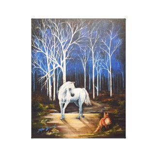 "Midnight Encounter 11""x14"" Canvas Print"