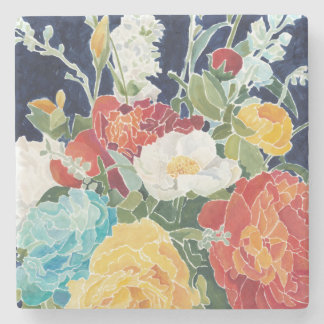 Midnight Florals I Stone Coaster
