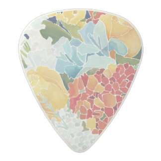 Midnight Florals II Acetal Guitar Pick