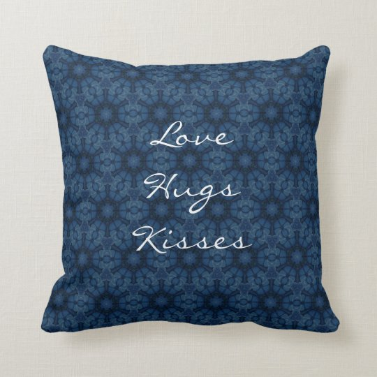 Midnight Flowers Love Hugs Kisses Custom Text G202
