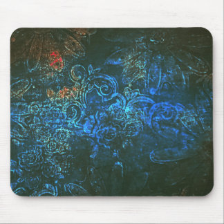 Midnight flowers mouse mat