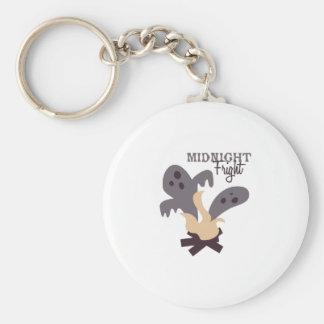 Midnight Fright Basic Round Button Keychain