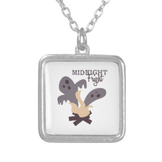 Midnight Fright Square Pendant Necklace