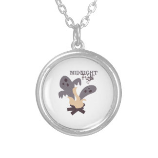 Midnight Fright Round Pendant Necklace