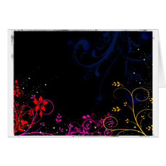Midnight garden background card