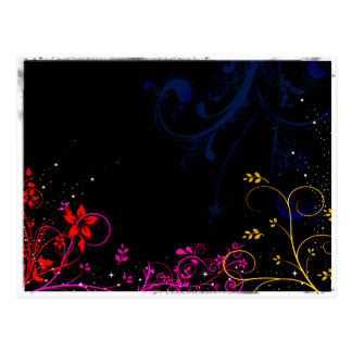 Midnight garden background postcard