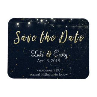Midnight Glamour Save the Date Magnet