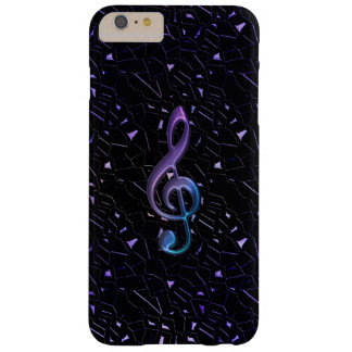 Midnight Glitter Music Clef iPhone 6 Plus Case