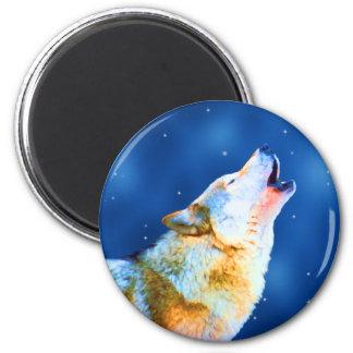 Midnight Howl 6 Cm Round Magnet