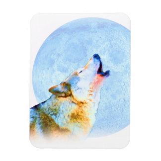 Midnight Howl Moon Art Rectangular Magnets