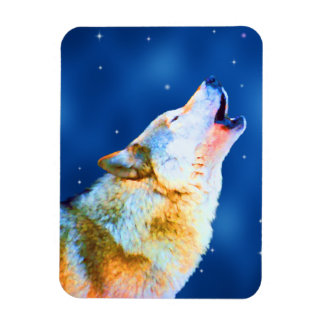 Midnight Howl Rectangular Photo Magnet