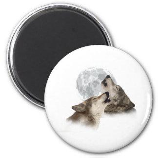Midnight Howling 6 Cm Round Magnet