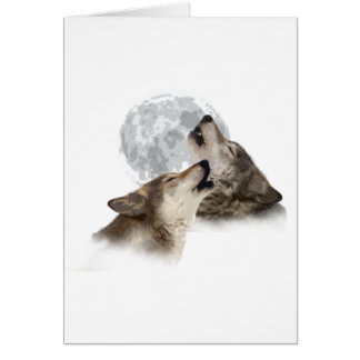 Midnight Howling Greeting Cards