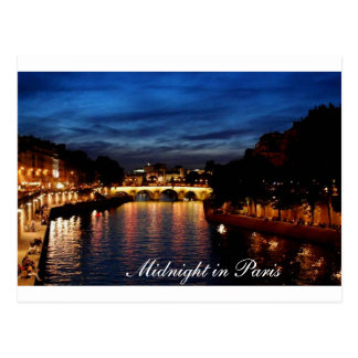 Midnight in Paris card Postcard
