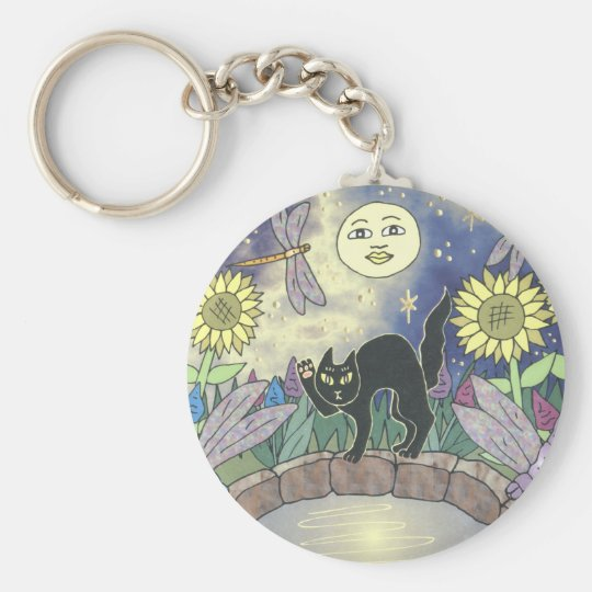 Midnight in the Garden of Dragonflies Key Ring