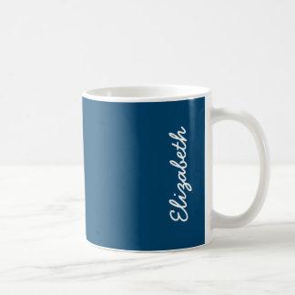Midnight Indigo Solid Color Basic White Mug