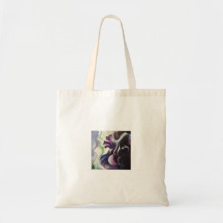Midnight Iris Abstract Oil Painting Tote Bag