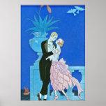 Midnight Kiss Art Deco Print