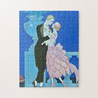Midnight Kiss Art Deco Puzzle
