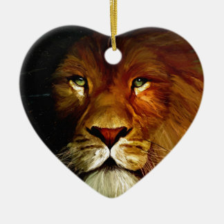 Midnight Lion 1.jpg Ceramic Heart Decoration