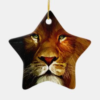 Midnight Lion 1.jpg Christmas Ornament
