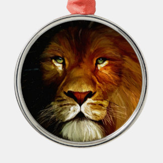 Midnight Lion 1.jpg Christmas Ornament