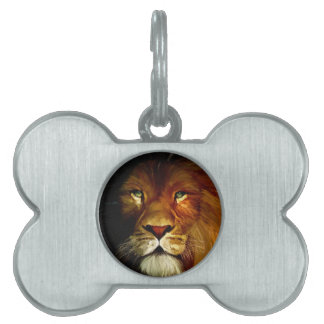 Midnight Lion 1.jpg Pet ID Tag