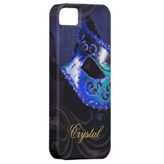 Midnight Masquerade Blue Fantasy Iphone Five Case iPhone 5 Cover
