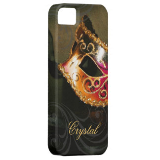 Midnight Masquerade Gold Fantasy Iphone Five Case iPhone 5 Cases