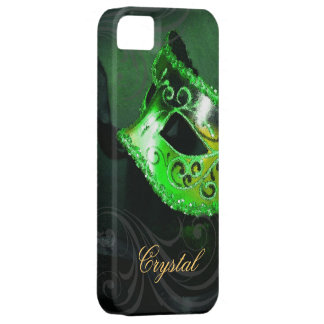 Midnight Masquerade Green Fantasy Iphone Five Case Case For The iPhone 5