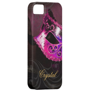 Midnight Masquerade Pink Fantasy Iphone Five Case iPhone 5 Covers